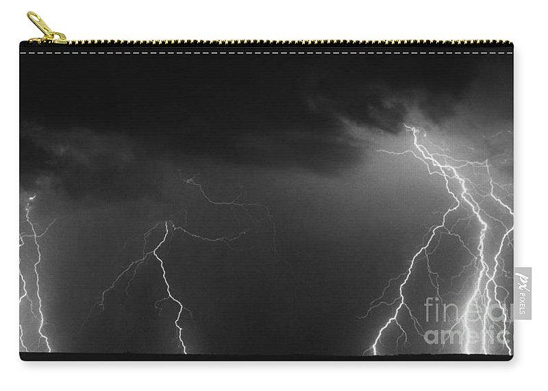 Lightning Carry-all Pouch featuring the photograph Solo Dancers by J L Woody Wooden