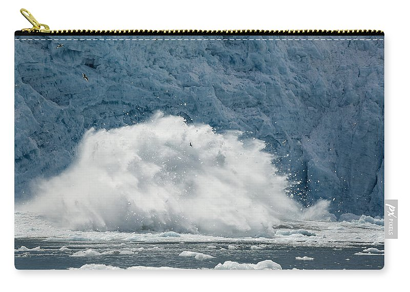 Glacier Carry-all Pouch featuring the photograph Splash by Ted Raynor