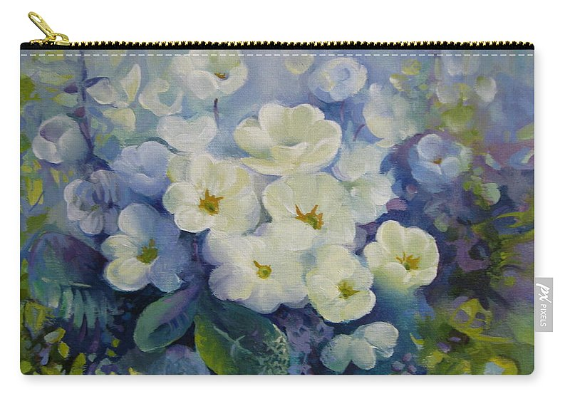 Spring Carry-all Pouch featuring the painting Spring by Elena Oleniuc