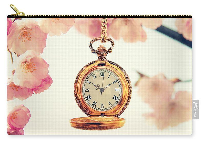 Uhr Carry-all Pouch featuring the pyrography Spring Time by Steffen Gierok