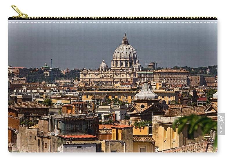 St Peters Carry-all Pouch featuring the photograph St Peters Basilica by David Pringle