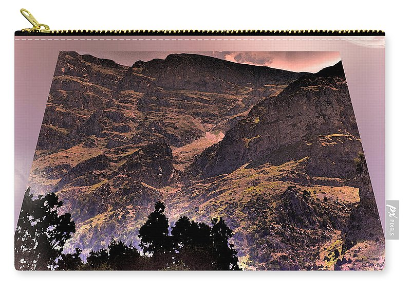 Star Carry-all Pouch featuring the photograph Starry Night Landscape by Augusta Stylianou