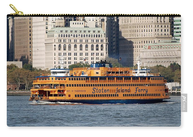 Harbor Carry-all Pouch featuring the photograph Staten Island Ferry by Rob Hans