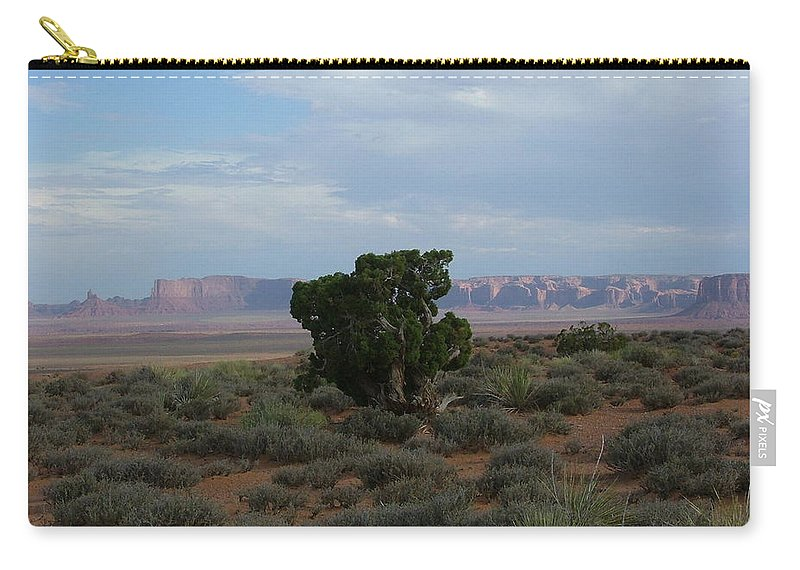 Digital Photography Carry-all Pouch featuring the photograph Still Life In The Desert by Sian Lindemann