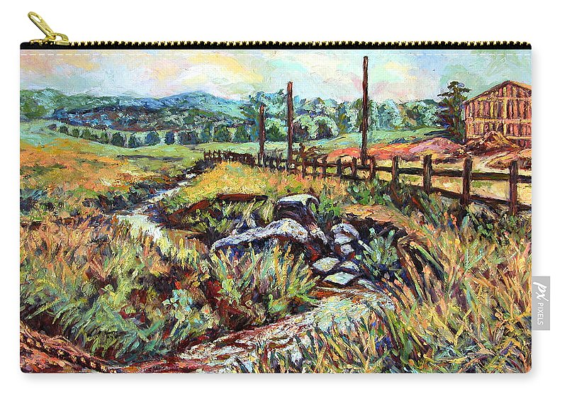 Landscape Paintings Carry-all Pouch featuring the painting Stroubles Creek by Kendall Kessler