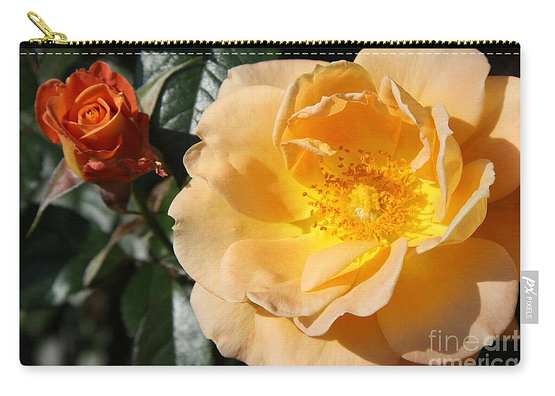 Rose Carry-all Pouch featuring the photograph Summer's Rose Love by Christiane Schulze Art And Photography