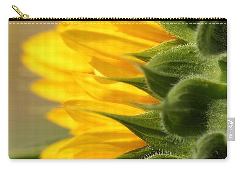 Mccombie Carry-all Pouch featuring the photograph Sunflower From The Color Fashion Mix by J McCombie