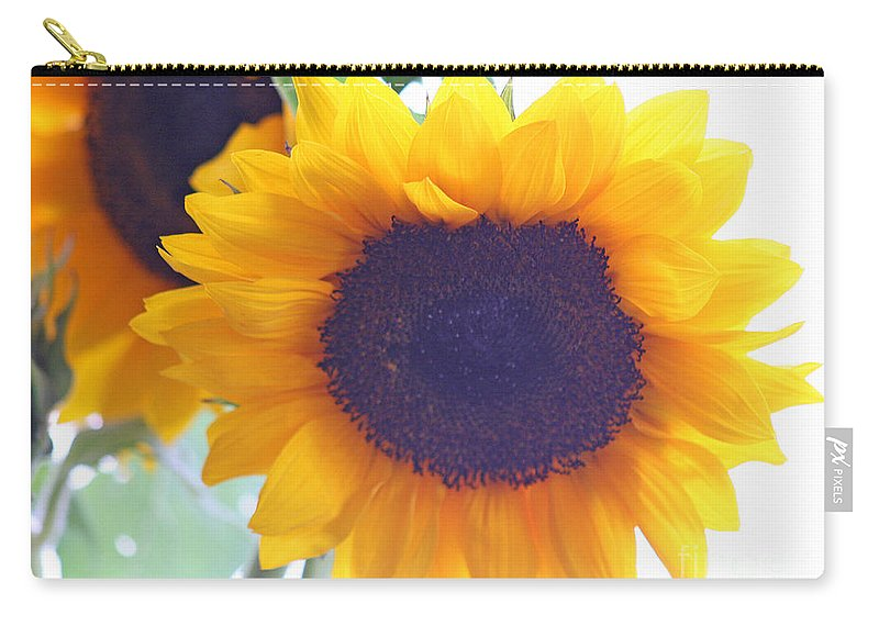 Sunflower Carry-all Pouch featuring the photograph Sunflower by Karen Adams
