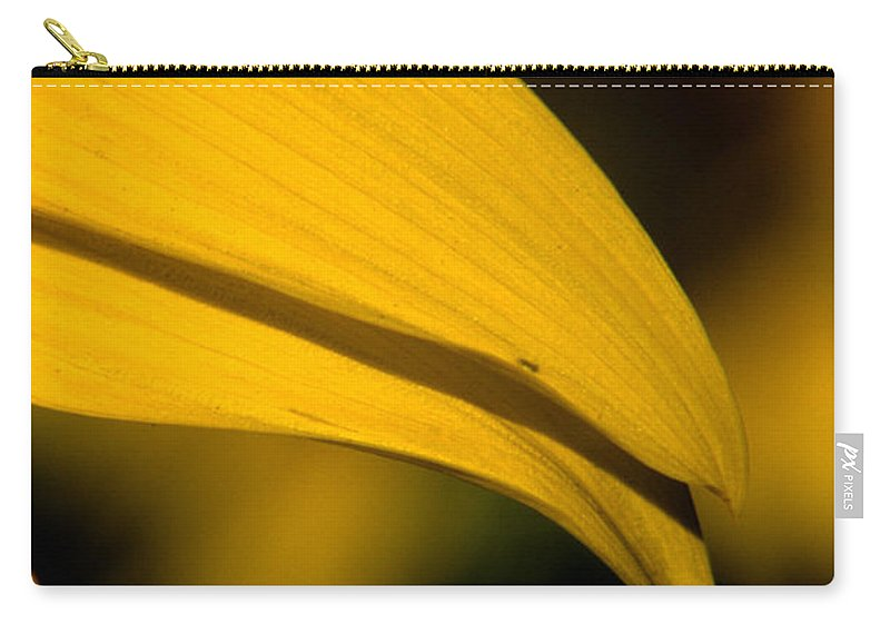 Sunflower Carry-all Pouch featuring the photograph Sunflower Petals by Sharon Elliott