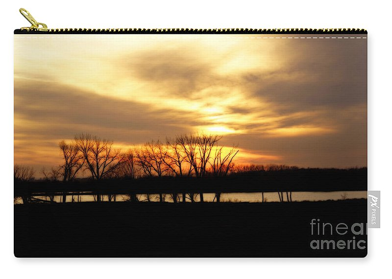 Nature Carry-all Pouch featuring the photograph Sunset On The Prairie by Lori Tordsen