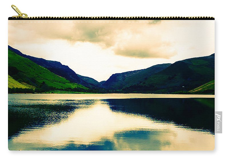 Canvas Carry-all Pouch featuring the photograph Talyllyn Lake Snowdonia by Mark Llewellyn