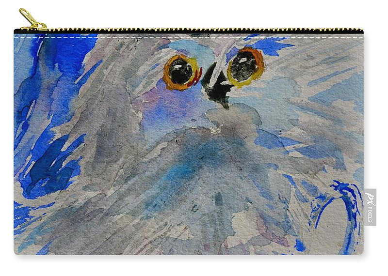 Owl Carry-all Pouch featuring the painting Teacup Owl by Beverley Harper Tinsley