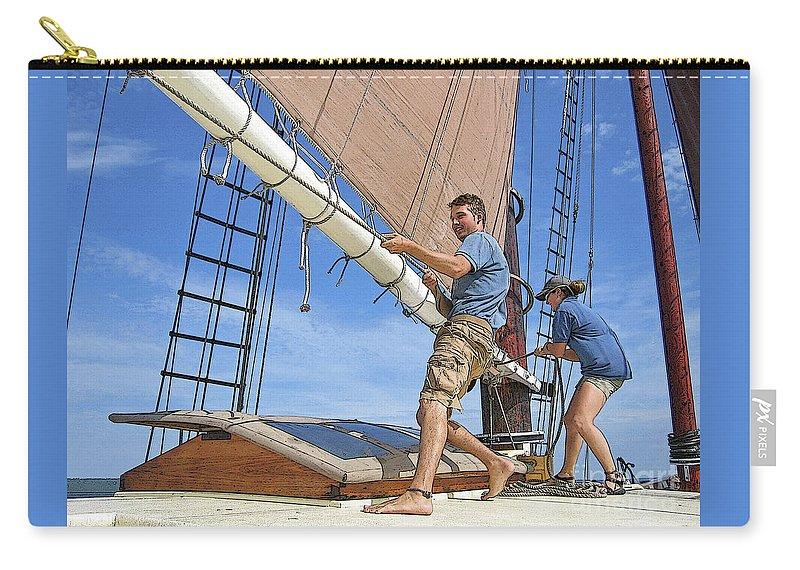 Schooner Carry-all Pouch featuring the photograph Teamwork by Ann Horn