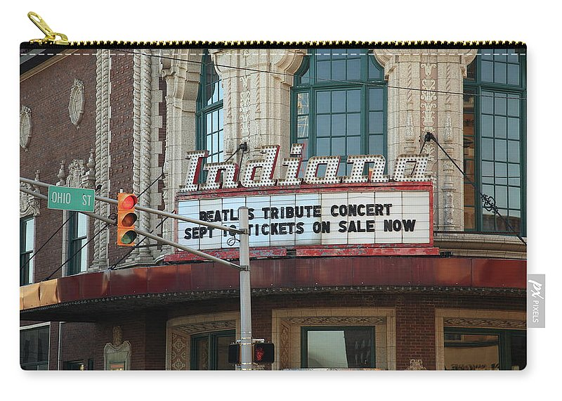 America Carry-all Pouch featuring the photograph Terre Haute - Indiana Theater by Frank Romeo