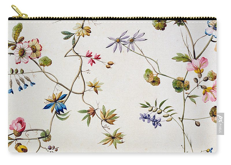 William Carry-all Pouch featuring the painting Textile Design by William Kilburn