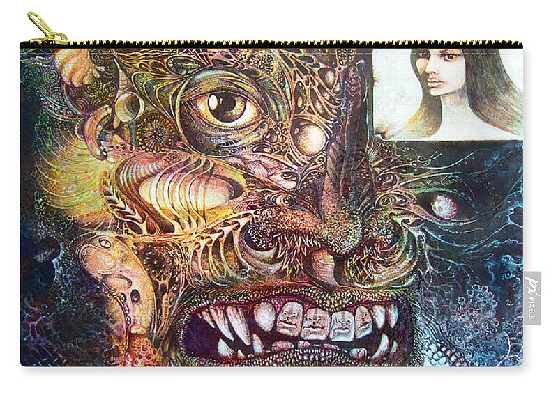 Mythology Carry-all Pouch featuring the painting The Beast Of Babylon by Otto Rapp