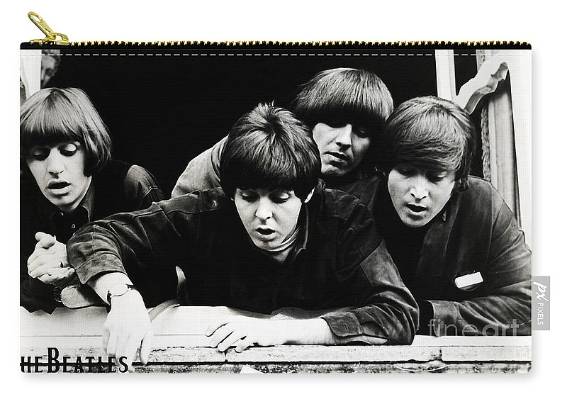 The Beatles I Want To Hold Your Hand Carry-all Pouch featuring the digital art The Beatles by Marvin Blaine