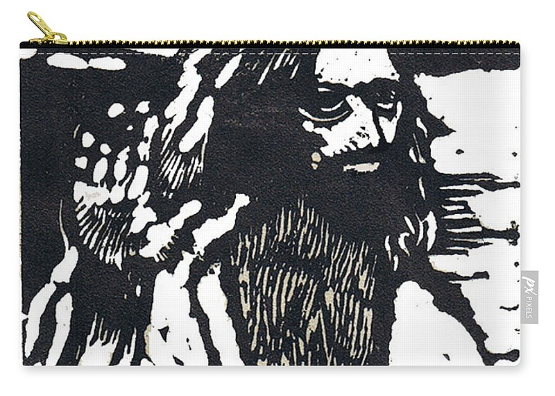 Jesus Christ Carry-all Pouch featuring the mixed media The Blessing by Seth Weaver