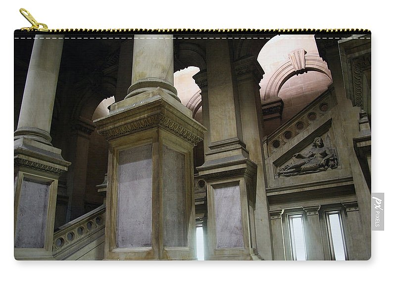 Philadelphia Carry-all Pouch featuring the photograph The Bowels Of City Hall by Cora Wandel