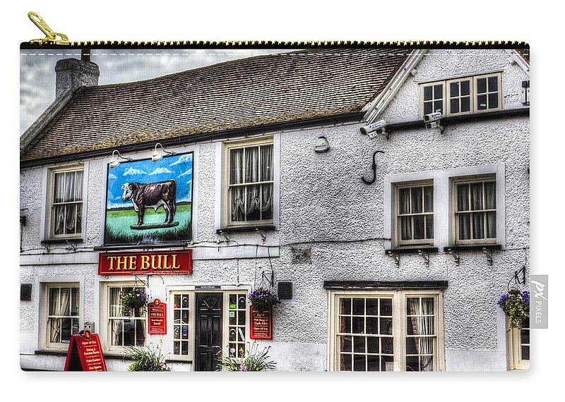 The Bull Carry-all Pouch featuring the photograph The Bull Pub Theydon Bois Essex by David Pyatt