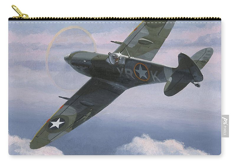 Aviation Art Carry-all Pouch featuring the painting The High Country 1 by Wade Meyers