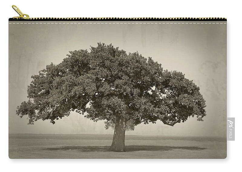 Tree Carry-all Pouch featuring the photograph The Lonely Tree by Charles Beeler