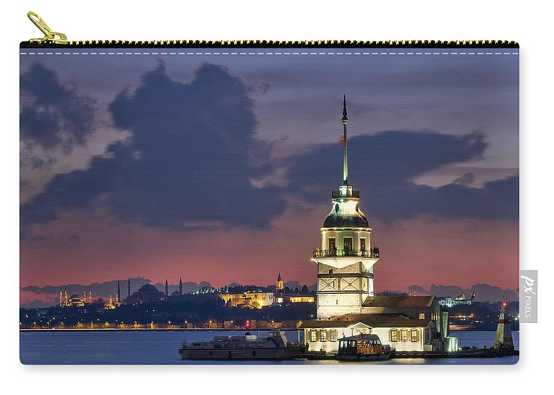 Carry-all Pouch featuring the photograph The Maiden's Tower by Ayhan Altun