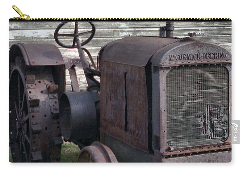 Farm Tractor Carry-all Pouch featuring the photograph The Old Mule by Richard Rizzo
