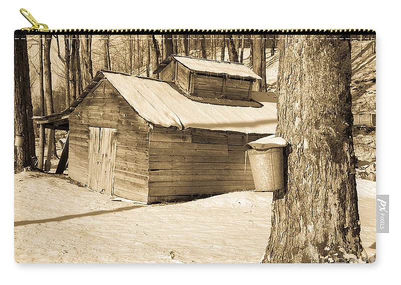 Vermont Carry-all Pouch featuring the photograph The Old Sugar Shack by Edward Fielding