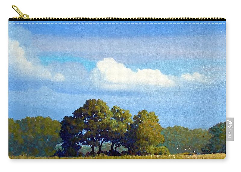 Landscape Carry-all Pouch featuring the painting The Path by Kevin Lawrence Leveque