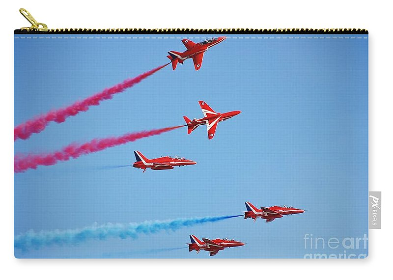Red Carry-all Pouch featuring the photograph The Red Arrows by David Fowler