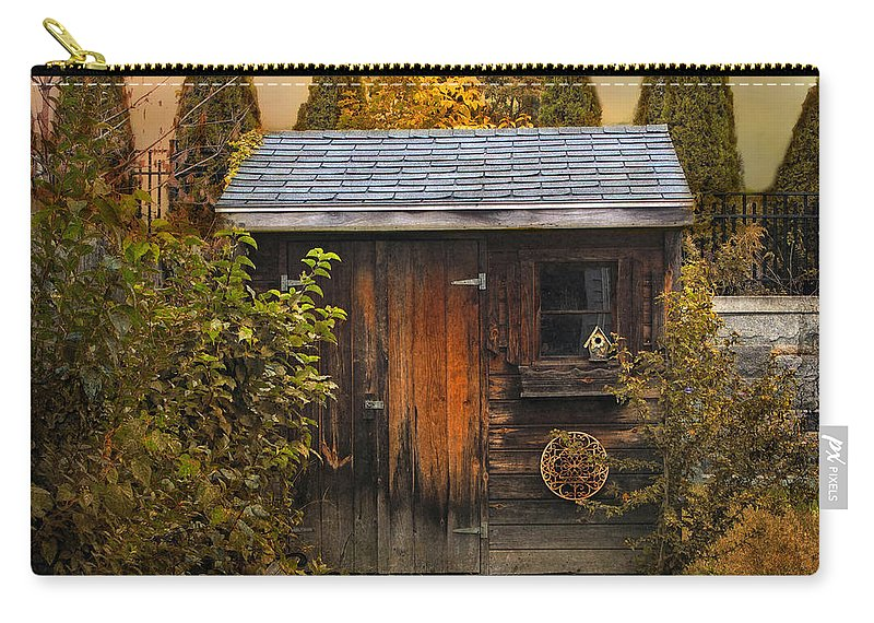 Shed Carry-all Pouch featuring the photograph The Shed by Jessica Jenney