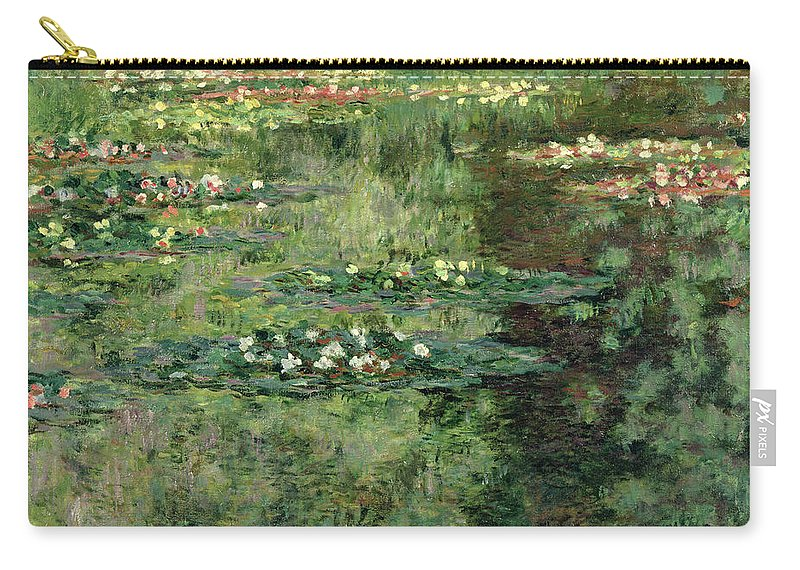 Etang Aux Nympheas Carry-all Pouch featuring the painting The Waterlily Pond by Claude Monet