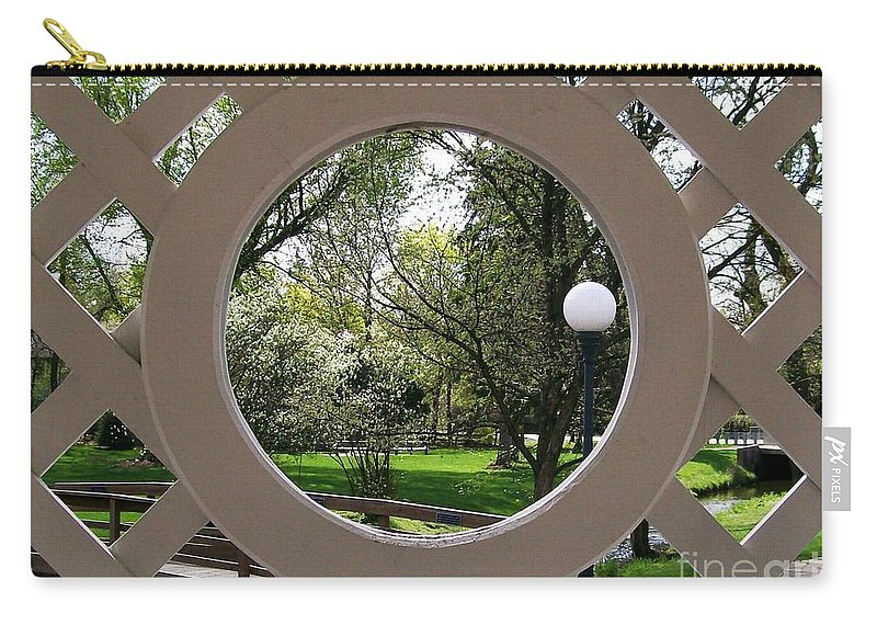 Lattice Carry-all Pouch featuring the photograph Through The Lattice by Laurie Eve Loftin