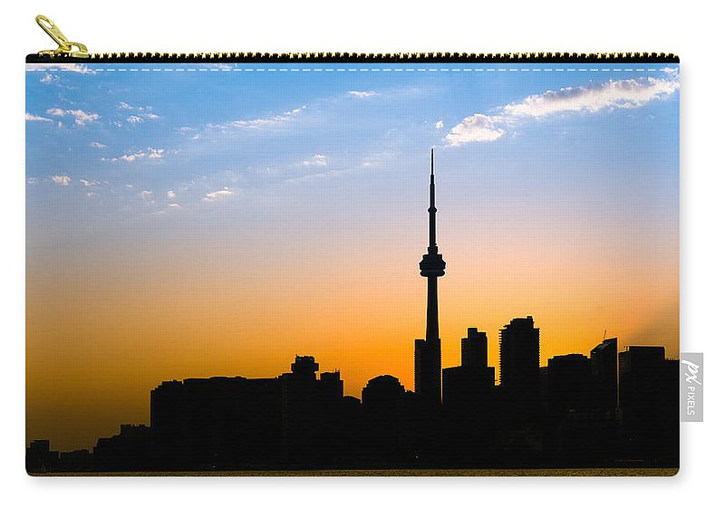 Toronto Carry-all Pouch featuring the photograph Toronto Skyline by Sebastian Musial
