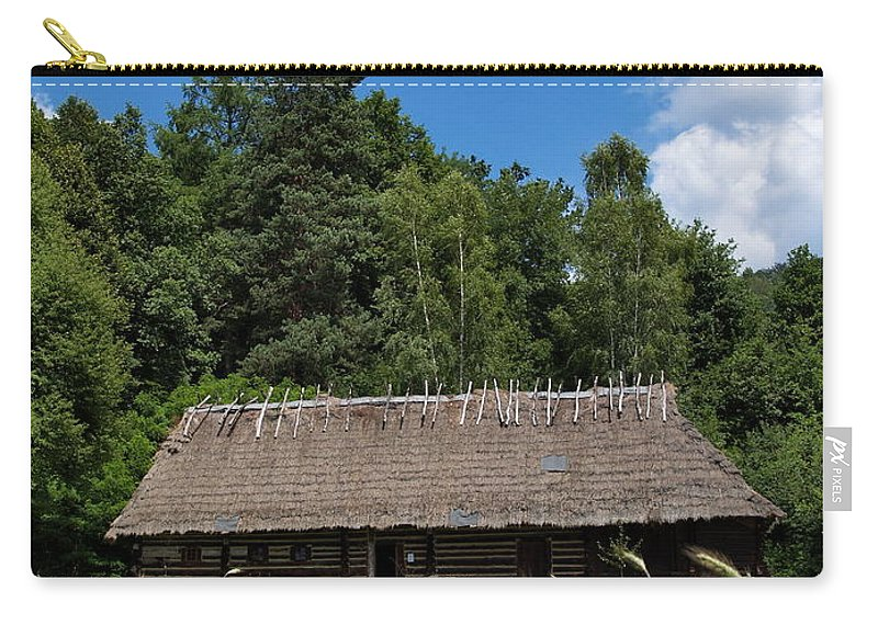 Architecture Carry-all Pouch featuring the photograph Traditional Polish Cottage House by Karol Kozlowski