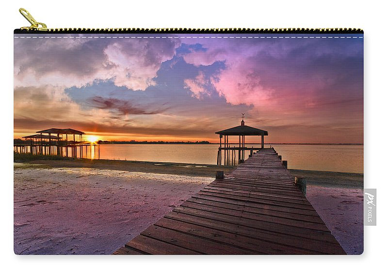 Clouds Carry-all Pouch featuring the photograph Tranquility by Debra and Dave Vanderlaan