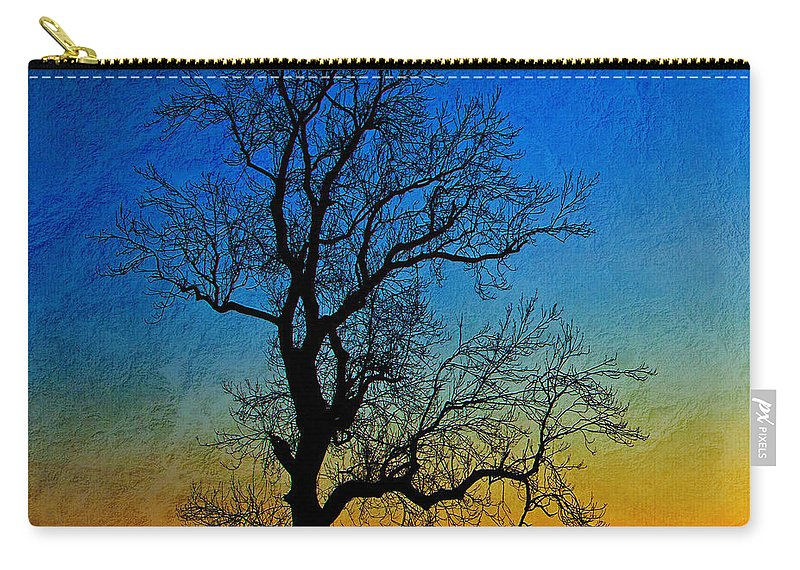 Tree Carry-all Pouch featuring the photograph Tree Skeleton by David Pringle