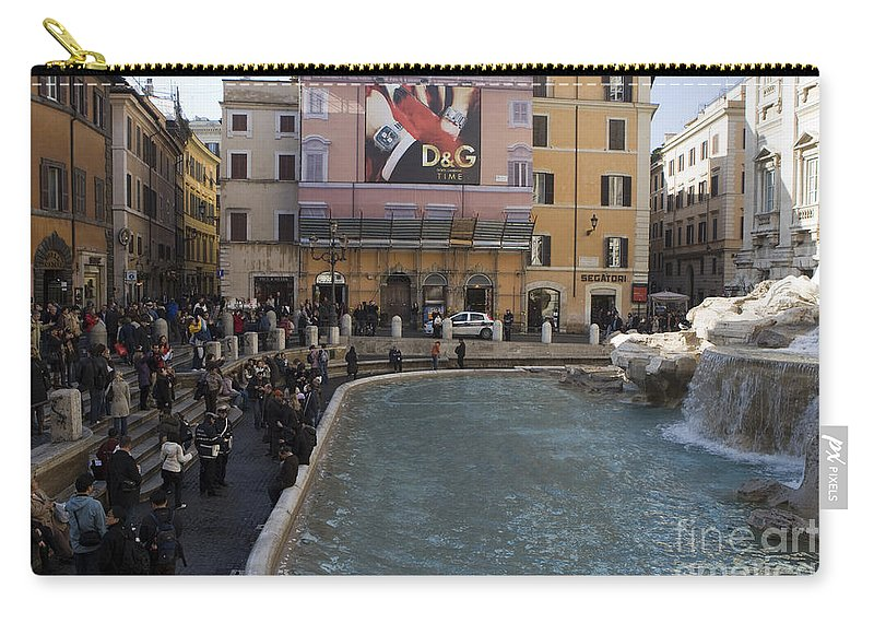 Travel Carry-all Pouch featuring the photograph Trevi Fountain Rome by Jason O Watson