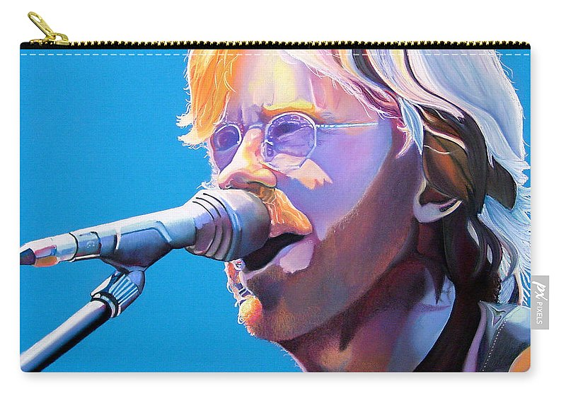 Phish Carry-all Pouch featuring the drawing Trey Anastasio by Joshua Morton