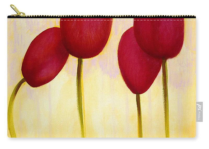 Carry-all Pouch featuring the painting Tulips Are People Xv by Jerome Lawrence