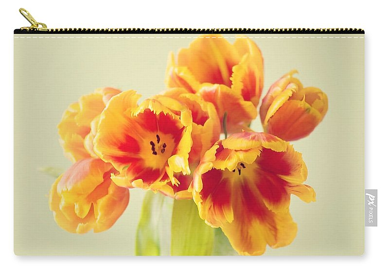 Tulpe Carry-all Pouch featuring the pyrography Tulips by Steffen Gierok