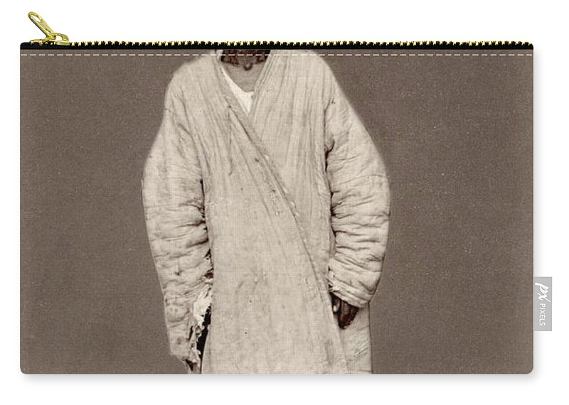 1865 Carry-all Pouch featuring the photograph Turkestan Mazang, C1865 by Granger