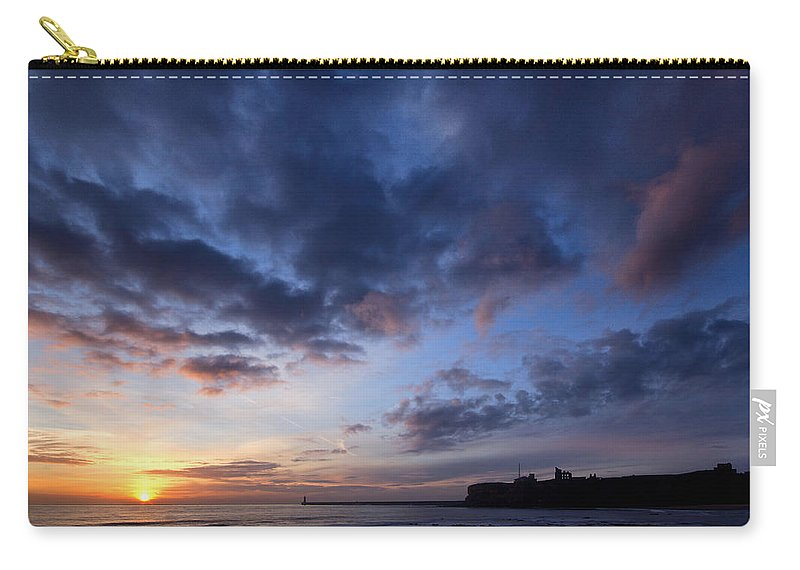 Tynemouth Carry-all Pouch featuring the photograph Tynemouth Sunrise by David Pringle