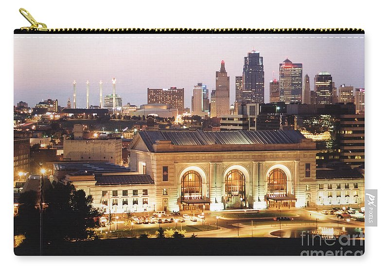 Kansas City Carry-all Pouch featuring the photograph Union Station Evening by Crystal Nederman