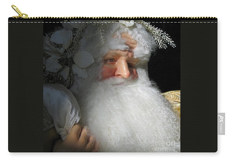 Christmas Carry-all Pouch featuring the photograph Upscale Father Christmas by Ann Horn