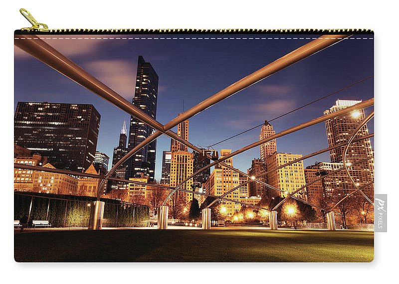 Downtown District Carry-all Pouch featuring the photograph Usa, Illinois, Chicago, Cityscape by Henryk Sadura