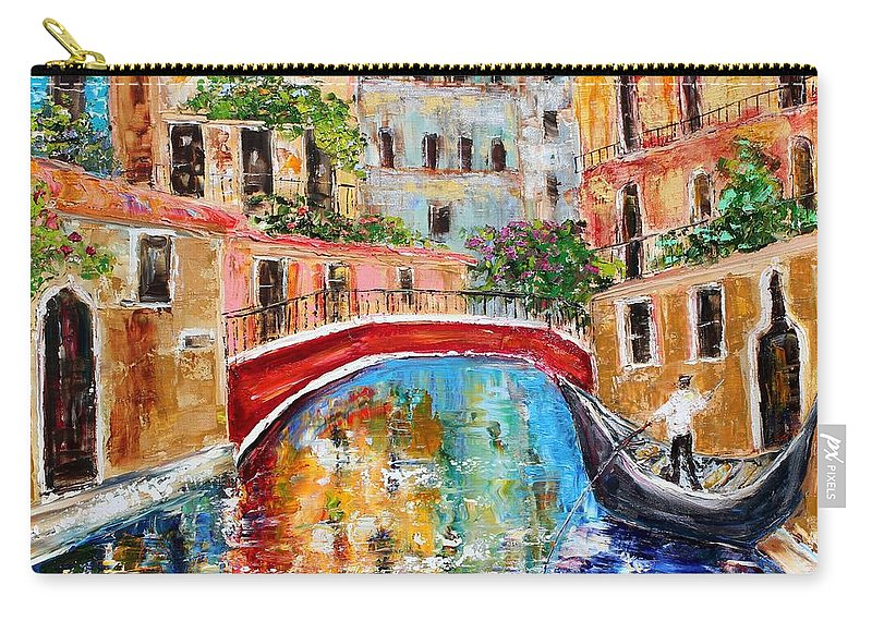 Venice Carry-all Pouch featuring the painting Venice Magic by Karen Tarlton