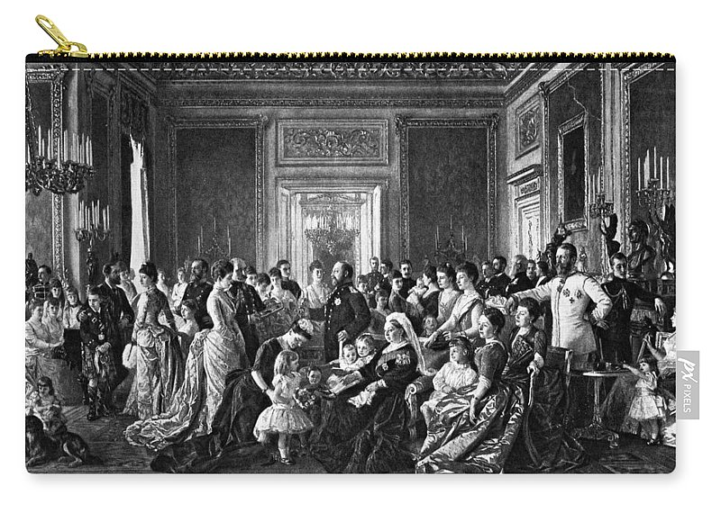 1887 Carry-all Pouch featuring the painting Victoria Of England (1819-1901) by Granger