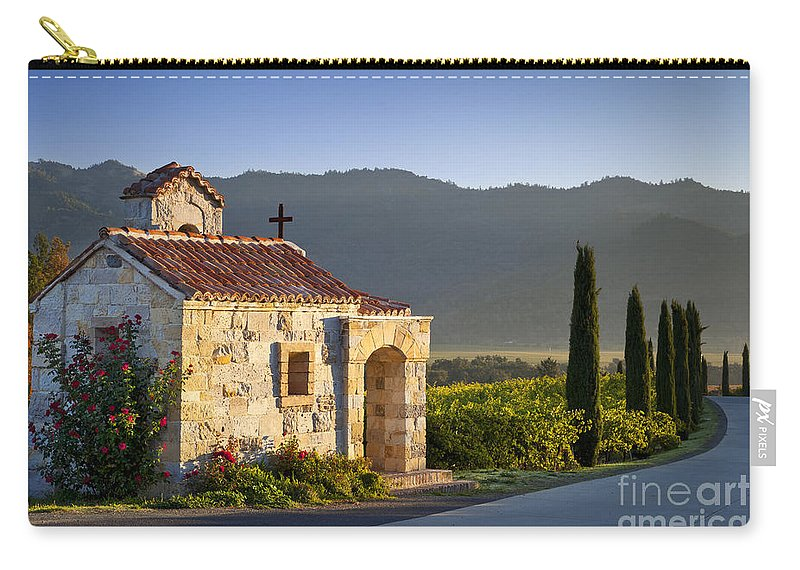 Napa Carry-all Pouch featuring the photograph Vineyard Prayer Chapel by Brian Jannsen